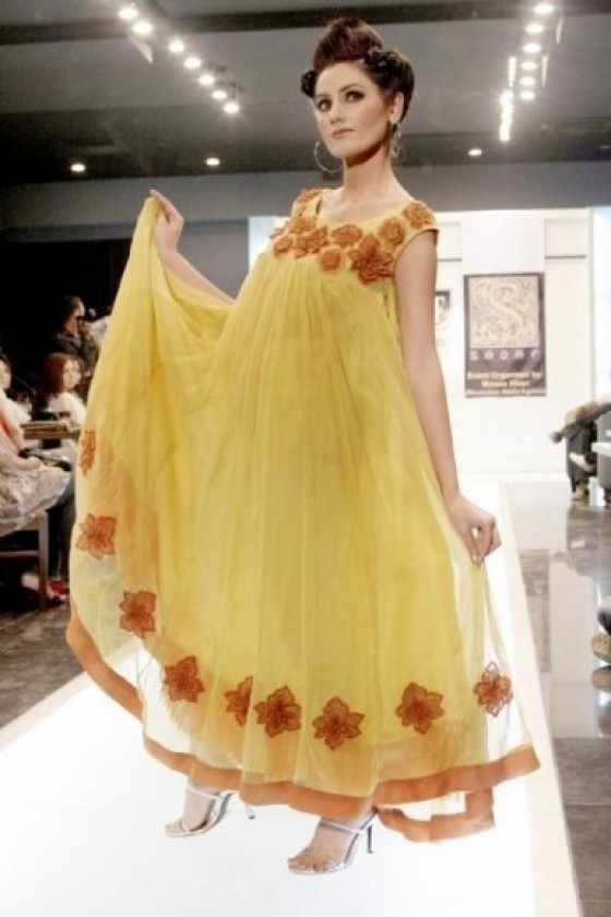 fancy party wear frock designs   latest collection 2011   2012