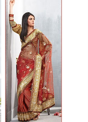 Beautiful Stylish Party Wear Sarees Designs For Girls6