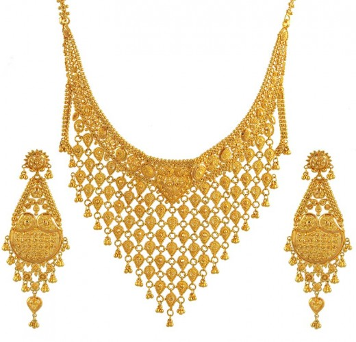 Bridal indian gold jewellery collection