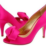 Dark pink shoes