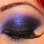 shimmery purple Eye Makeup
