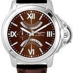 Jorg Gray Leather Multifunction Brown Dial Men's watch