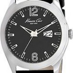 Kenneth Cole New York Leather Black Dial Men's Watch