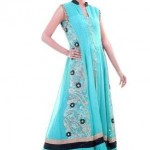 Long Anarkali Style Kameez Dresses