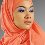 Orange hijab fashion