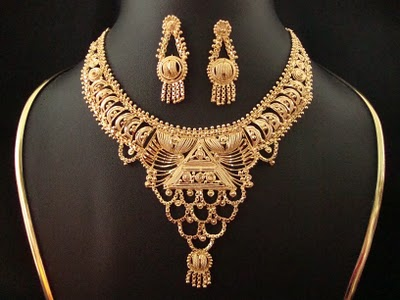 Bridal gold jewellery Latest indian jewelry