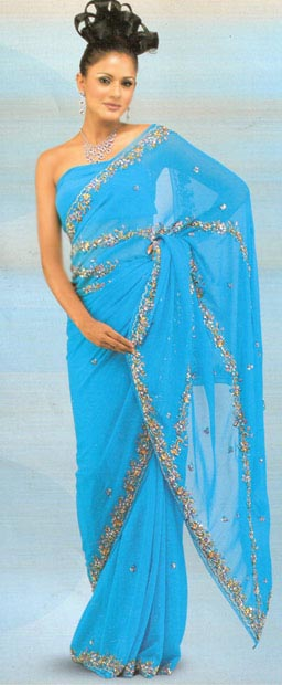 Fancy Indian saree designs - Latest Indian saari styles 2012