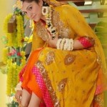 indian bridal mehndi dresses
