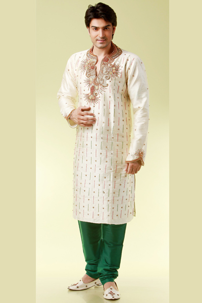 Mehndi Kurta For Mens : Wedding kurta pajama for men stylish kurtas mehndi