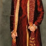 Stylish groom dress by Deepak Perwani