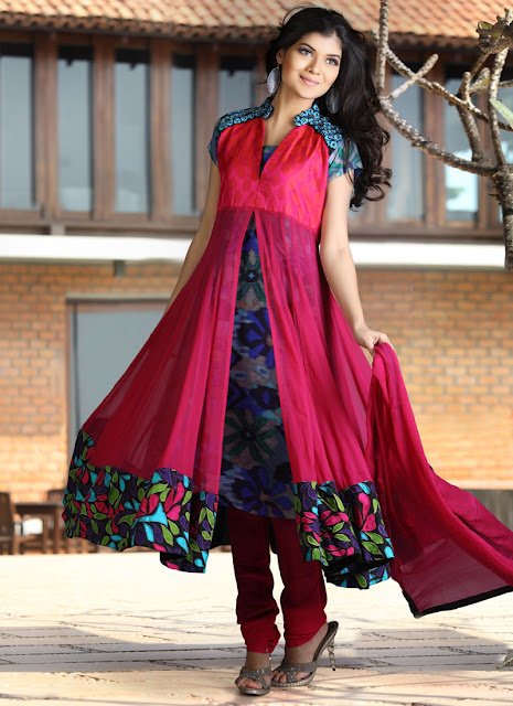 Open And Double Shirt Dresses Stylish Dresses For Eid 2012