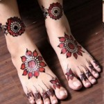 Mehndi designs for feet | Eid colection 2012