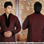 Royal Maroon Kurta Pajama Fashion 2012