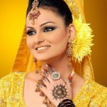 Asian bridal Mehndi dress 2012