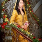 Bridal Mehndi Dresses 2012