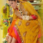 Yellow Mehndi Dresses for bridals | Wedding Dresses 2012