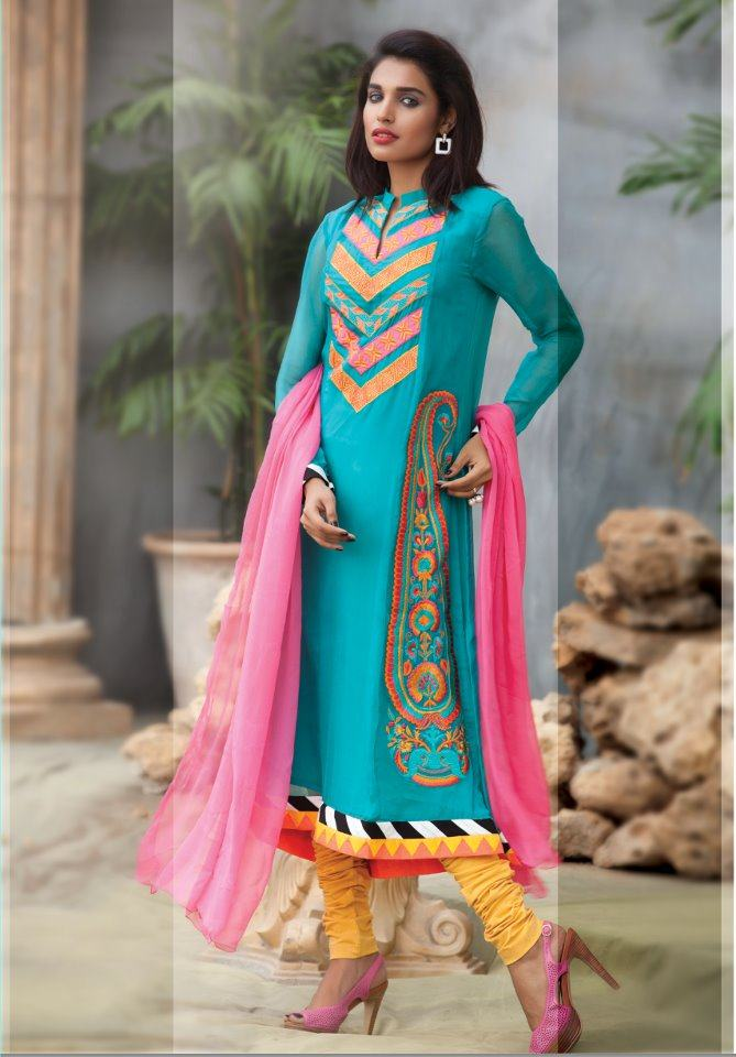 Pakistani Wedding Party Dresses Embroidered Party Dresses 2012