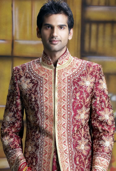 Latest Sherwani designs for men 2012 - Groom Dresses Collection
