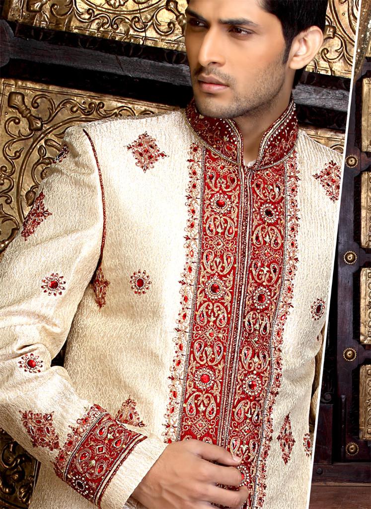latest sherwani designs for men 2012 groom dresses collection. Black Bedroom Furniture Sets. Home Design Ideas