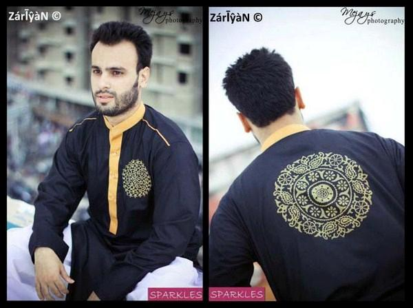 Pakistani kurta shawlar fashions 2012 for men
