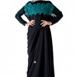 designers abaya 2012 - Black and Green Abaya Fashions