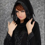 khalleji abaya with stone work