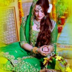 latest bridal mehndi makeup