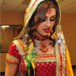pink bridal mehndi makeup 2012