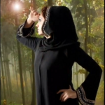 simple arabic abaya style 2012
