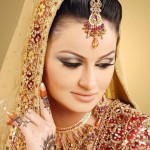 smoky brown bridal mehndi makeup