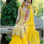 yellow bridal mehndi makeup