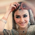 Bridal makeup for nikah 2013