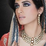 Bridal makeup for nikah smoky