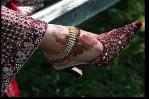 Bridal mehndi for feet