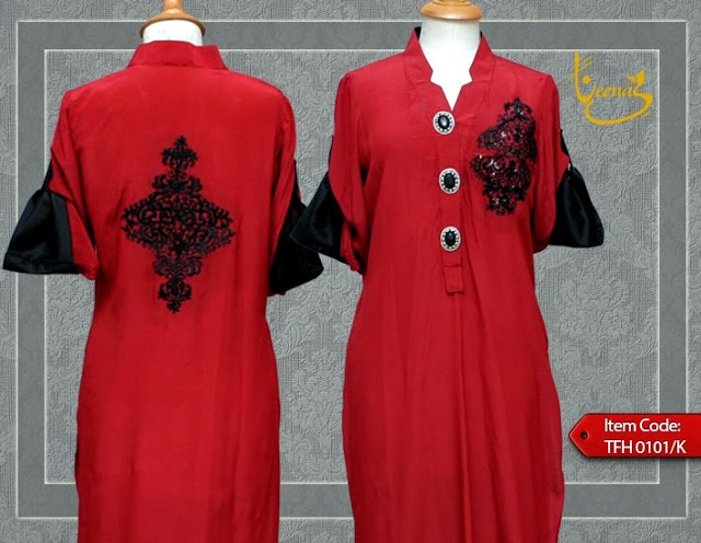 Embroiderd logo kurta design by hina butt