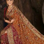fancy saree for indian brides