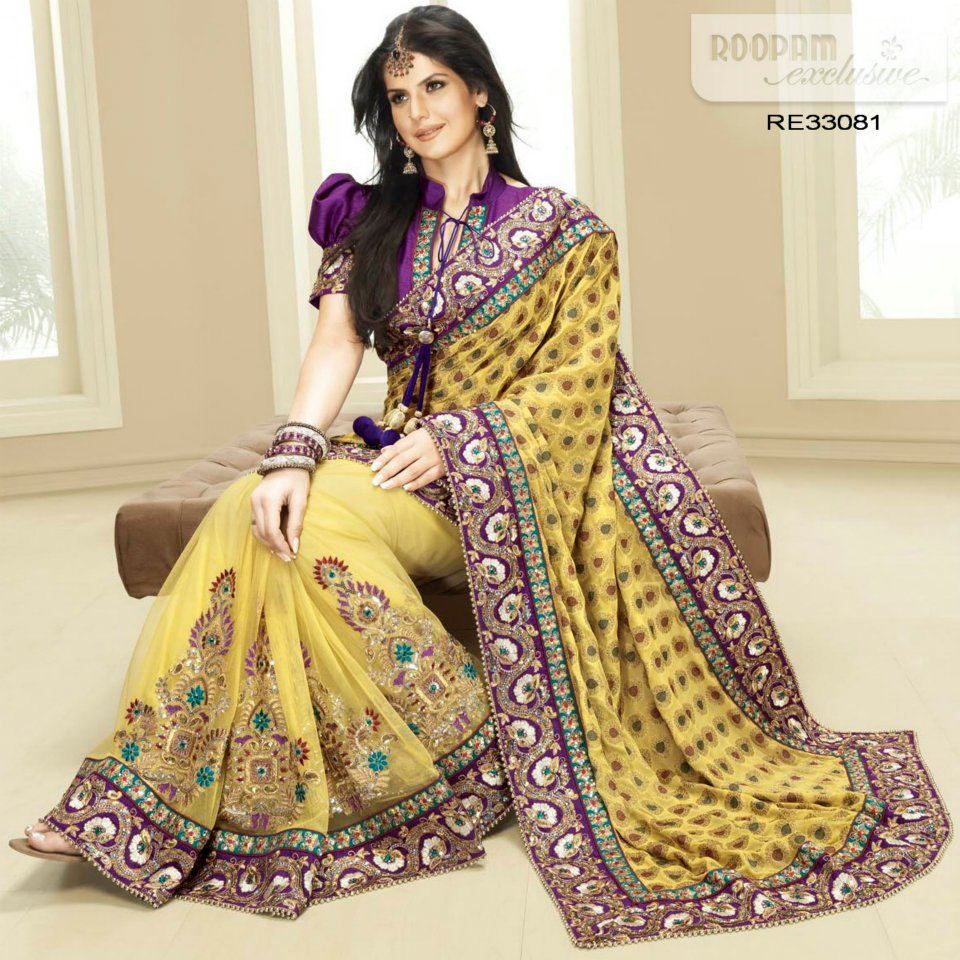 Indain bridal saree designs 2012