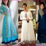 Latest fancy partywear dresses for girls 2013 - Indian formal party dress designs