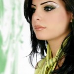 Shimmery eyes party makeup 2012-2013