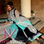 Stylish party wear dresses - Pakistani party wear dresses - Designers party wear - Evening party dress - blue and black party dress