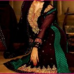 Wedding party wear outfit - Stylish anarkali frocks and latest wedding dress designs