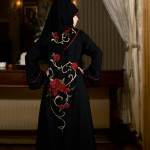 Embroidered abayas for women