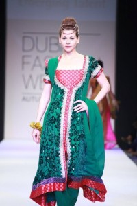 Emerald green dress party wear 2013