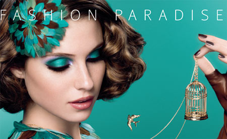 Emerald green makeup 2013