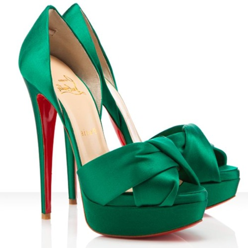 Emerald green shoes trend 2013