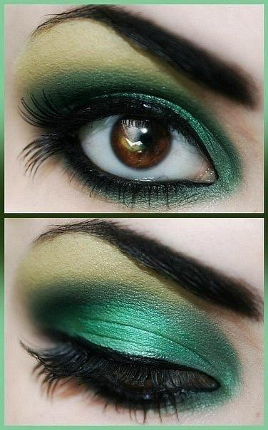 Eye makeup emerald 2013