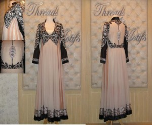 Formal dress designs by threads and motifs