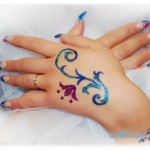 Glitter designs - hand tattoo designs