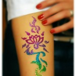 Glitter tattoos for girls