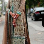 Pakistani bridal long shirt lehnga designs 2013